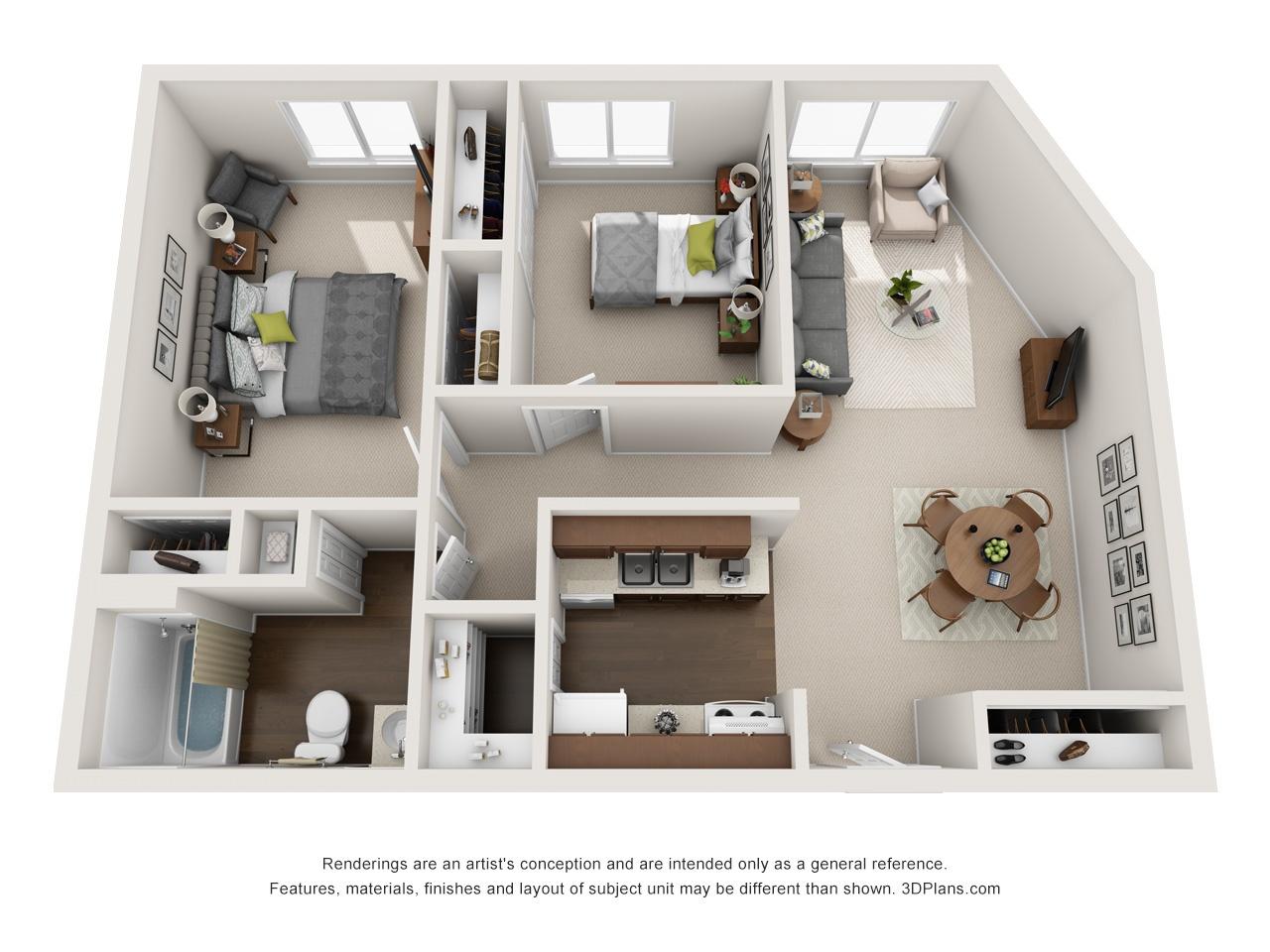 3D LS 2 Bed 790